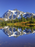 Reflected in Picture Lake, Mt. Shuksan, Heather Meadows Recreation Area, Washington, Usa Photographic Print by Jamie & Judy Wild