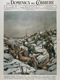 Fighting Between Russian and German Troops.La Domenica Del Corriere (January 1943) Photographic Print by  Prisma Archivo