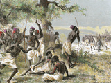 The Caravan of Dr. Livingstone Found a Group of Armed Natives by A. Beatrand 1882 Photographic Print by  Prisma Archivo