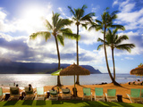 St. Regis Princeville, Hanalei Bay, Kauai, Hawaii Photographic Print by Douglas Peebles