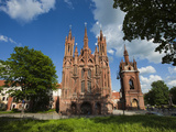 St. Anne and Bernardine Churche, Vilnius, Lithuania Photographic Print by Walter Bibikow