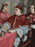 Leo X (1475-1521). Florentine Pope (1513-1521), Named Giovanni De Medici. Pope Leo X Photographic Print by  Prisma Archivo