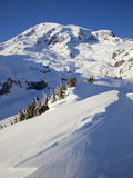 Mount Rainier after Winter Snowstorm, Mount Rainier National Park, Washington, Usa Photographic Print by Jamie &amp; Judy Wild