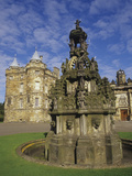 Fountain on the Grounds of Holyroodhouse Palace, Edinburgh, Scotland Photographic Print by Christopher Bettencourt
