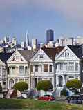 Painted Ladies Alamo Square, San Francisco, California, Usa Photographic Print by Rob Tilley