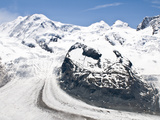 Monte Rosa Massif from Gronergrat, Gornergrat Peak, Switzerland Photographic Print by Michael DeFreitas