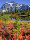 Picture Lake, Mt. Shuksan, Heather Meadows Recreation Area, Washington, Usa Photographic Print by Jamie & Judy Wild