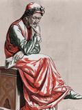 Dante Alighieri (1265-1321). Italian Poet by Pannemaker Photographic Print by Prisma Archivo
