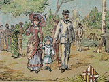 Family Walking, Barcelona, Catalonia, Spain (1885) Photographic Print by  Prisma Archivo