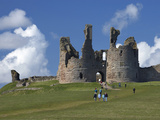 Dunstanburgh Castle Ruins, Northumberland, England Photographic Print by David Wall