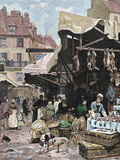 Market, Paris, France Photographic Print by  Prisma Archivo