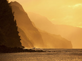 Sunset, Kee Beach, Napali Coast, Kauai, Hawaii Photographic Print by Douglas Peebles