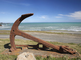 Anchor from the Barque Ben Avon, Shipwrecked in 1903, Ngawi, Wairarapa, North Island, New Zealand Photographic Print by David Wall
