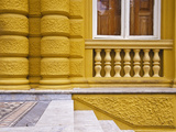 Building Detail of the Municipal Chamber of Petropolis or Yellow Palace, Petropolis, Brazil Photographic Print by Tom Haseltine