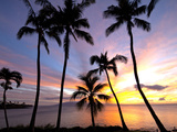 Sunset, Napili Bay, Maui, Hawaii Photographic Print by Douglas Peebles