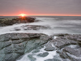 Sunrise Near Brenton Point State Park on Ocean Road in Newport, Rhode Island, Usa Photographic Print by Jerry & Marcy Monkman
