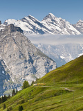 Grindelwald Valley from Below Jungfraujoch, Jungfrau Region, Switzerland Photographic Print by Michael DeFreitas