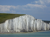Seven Sisters Chalk Cliffs, Seen from Cuckmere Haven, Near Seaford, East Sussex, England Photographic Print by David Wall