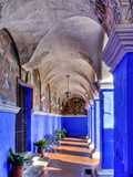 Graceful Archways of Monasterio Santa Catalina in the White City of Arequipa, Peru Photographic Print by Jerry Ginsberg