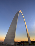 St. Louis Gateway Arch at Dusk, St. Louis, Missouri, Usa Photographic Print by Adam Jones