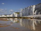 Seven Sisters Chalk Cliffs, Birling Gap, East Sussex, England Photographic Print by David Wall