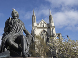 Robert Burns Statue, and St Paul's Cathedral, Octagon, Dunedin, South Island, New Zealand Photographic Print by David Wall
