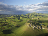 Kohinurakau Range and Mount Erin, Hawkes Bay, North Island, New Zealand Photographic Print by David Wall