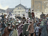 Popular Ovation to the Prince Bismarck, Way of the Station Photographic Print by  Prisma Archivo