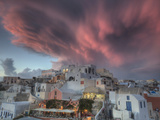 Sunset over Oia, Santorini, Greece Photographic Print by Darrell Gulin