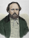 Pierre Joseph Proudhon (1809-1865). French Politician, Mutualist Philosopher and Socialist Photographic Print by Prisma Archivo