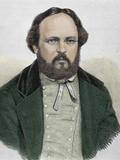 Pierre Joseph Proudhon (1809-1865). French Politician, Mutualist Philosopher and Socialist Photographic Print by Prisma Archivo