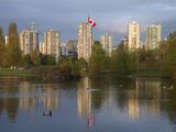 Apartments Reflected in Vanier Park Pond, Vancouver, British Columbia, Canada Photographic Print by David Wall