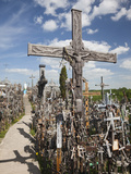 Hill of Crosses, Siauliai, Central Lithuania, Lithuania Photographic Print by Walter Bibikow