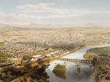 Cordoba (1860), Overview of the City with the Guadalquivir River in the Foreground Photographic Print by Prisma Archivo