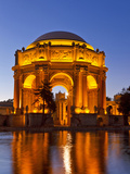 Palace of Fine Arts at Dusk in San Francisco, California, Usa Fotografisk tryk af Chuck Haney
