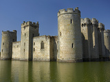 Bodiam Castle (1385), Reflected in Moat, East Sussex, England Photographic Print by David Wall