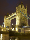 Tower Bridge and River Thames at Dusk, London, England, United Kingdom Photographic Print by David Wall