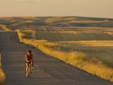 Road Bicycling Near Great Falls, Montana, Usa Photographic Print by Chuck Haney