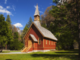 View of Yosemite Chapel in Springtime, Yosemite National Park, California, Usa Photographic Print by Dennis Flaherty