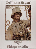 World War I (1914-1918). Poster  Help Us Win  by Fritz Erler (1868-1940) Photographic Print by  Prisma Archivo