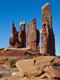 Determination Towers Monolith Group in Courthouse Pasture Northwest of Moab, Moab, Utah, Usa Photographic Print by Charles Crust
