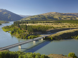 Bannockburn Bridge and Kawarau Arm, Lake Dunstan, Central Otago, South Island, New Zealand Photographic Print by David Wall