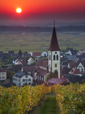 Ammerschwihr, Alsatian Wine Route, Alsace Region, Haut-Rhin, France Photographic Print by Walter Bibikow