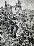 First World War (1914-1918). Inhabitants of Town of Serbia Fight Against Austrian Troops (1914) Photographic Print by  Prisma Archivo