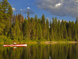 Sea Kayaking on Rainy Lake in the Lolo National Forest, Montana, Usa Photographic Print by Chuck Haney