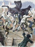 American Revolutionaries Toppling the Statue of the English King George Iii Photographic Print by  Prisma Archivo