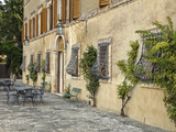 Outdoor Patio, Tuscany, Italy Photographic Print by Adam Jones