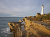 Castle Point Lighthouse, Castlepoint, Wairarapa, North Island, New Zealand Photographic Print by David Wall