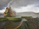 Composite of Fly Geyser at Sunrise, Gerlach, Nevada, Usa Photographic Print by Josh Anon