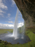 Scenic from Behind the Seljalandsfoss Waterfall, Selfoss, Iceland Photographic Print by Josh Anon